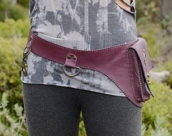 purple heap belt , bag