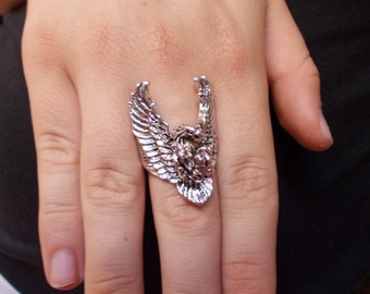 Eagle ring, stainless steel