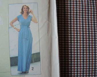 vintage 1970s simplicity sewing pattern 7336 misses jiffy dress and pants size 12