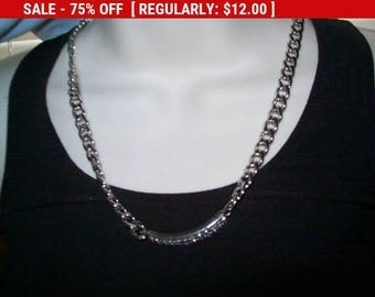 SALE Cookie Lee rhinestone necklace, estate jewelry, retro, rhinestone jewelry