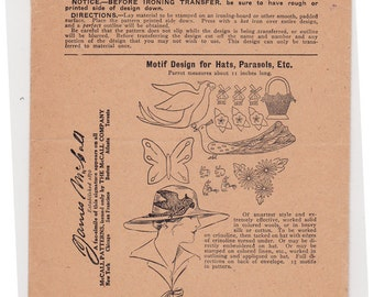 RARE 40s UNUSED McCall Kaumagraph Transfer Pattern No. 751 - Embroidery, Needlework Sewing Pattern
