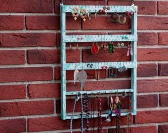 Womens Home Gift, Shabby Chic Wall Decor, Jewelry Display, Shabby Chic Gift Her, Wall Jewelry Organizer, Wall Mounted Jewelry Holder