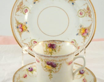Vintage Wild Brothers Royal Albert China Tea Trio Snack Set Vera Plate Star Teacup and Saucer Early 1900s Shabby Cottage Chic Mismatched