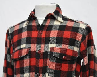Woolrich Wool Checkered Black & Red Shirt (DOWN FROM 29.99)