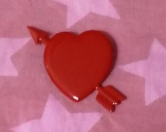 Vintage Valentine Swing back Pin - 1980s
