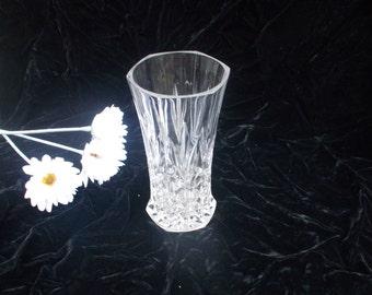 Vintage Lead Crystal Six Sided  Vase