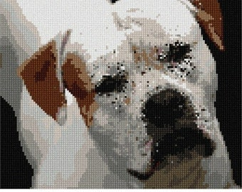 Needlepoint Kit or Canvas: American Bulldog