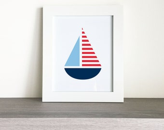 Printable Nautical Sailboat Wall Art