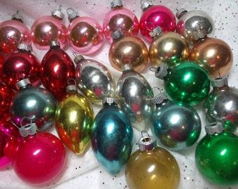 Vintage Glass Christmas Ornaments Lot