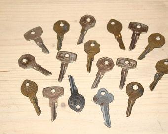 Soviet vintage car keys Lot of vintage car keys Old metal keys Old car keys Keys collectible Rustic keys Key
