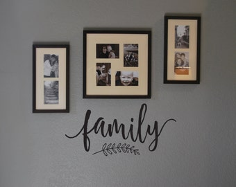 """Vinyl Wall Decal """"family"""""""