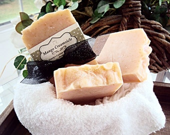 Mango Creamsicle Soap, Cold Process Soap, Handmade Soap, Natural Soap, Essential Oils, Mango, Body Soap, Soap Bar