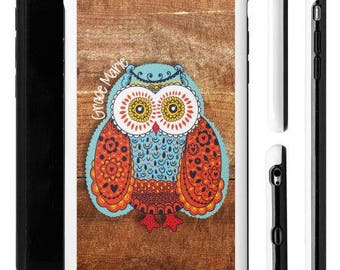 Owl iPhone Case, iPhone 6 Plus Case, Phone Cases, Personalized Phone Case, Personalized Owl Phone Case, Galaxy Phone Case, Customized Case