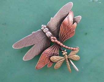 Dragonfly Brooch- Dragonfly Pin- Dragonfly Jewelry- Dragonflies