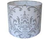 CUSTOM ORDER Lamp Shade - Traditions by Premier Prints in Storm - Made to Order
