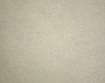 "Ivory Felt Fabric 72"" Wide Per Yard"