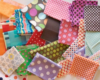 Quilting Scrap Fabric Pack -  Quilter's Cotton - Polka Dots, Various Colors