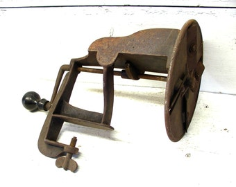 Vintage Iron Vegetable Slicer Potato Chip Slicer Counter Clamp Perfectly Primitive