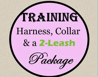 Training No-Pull Harness, Collar & Leash Package - Available in all Dog Collar Listings - Fabric name