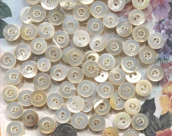 Group of 85 Vintage Mother of Pearl Buttons-Item#151