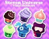 Steven Universe Crystal Cupcake Vinyl Stickers