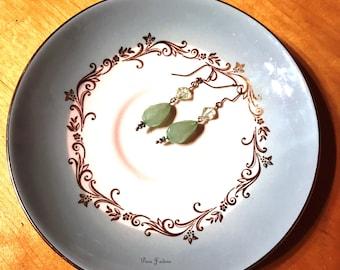 FINAL SALE - Seafoam Green Dangle Earrings