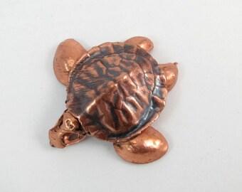 electroformed sculpture little bastards collection: skull turtle