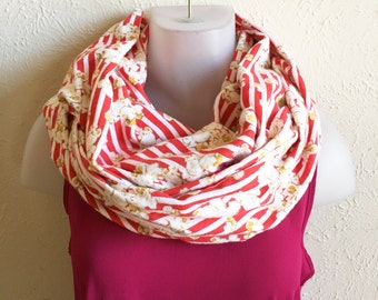 Popcorn Infinity Scarf/Circle Scarf/Flannel Scarf