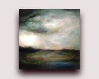 Landscape oil Painting, Semi-Abstract landscape painting, landscape art, framed ready to hang painting, landscape wall art abstract