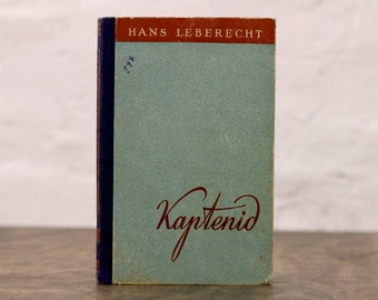 """Upcycled Notebook Tartuensis Classic """"Captains"""", from Recycled Book Covers"""