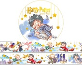 1 Roll of Limited Edition Gold Foiled Washi Tape: Harry Potter and Friends