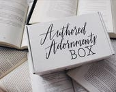 Authored Adornments Box, Book lovers box, bookish, subscription box, book gift,