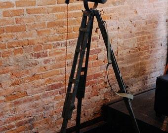 Tripod Theater Style Lamp from Vintage Fan