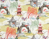 """REMNANT - Robert Allen Chinoiserie Neo Toile Coral- 36"""" x 16"""" OR 40"""" x 13"""""""