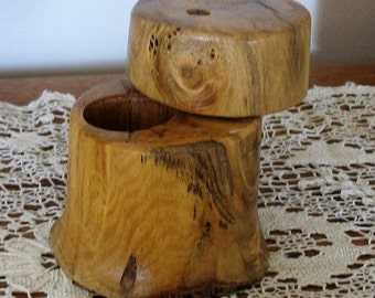 Ring Box, with Swivel Lid made from Native Iowa Black Walnut