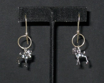 Sterling Silver 3D Fawn Charms for Pierced Ears