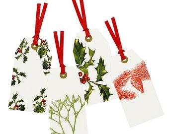 Christmas gift tags, tradional Christmas tags, Christmas hang tag, Christmas gift wrapping, Christmas presents, modern Christmas gift labels