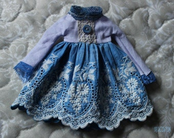 "Ooak Blythe dress by Iriscustom "" Blue Sky """