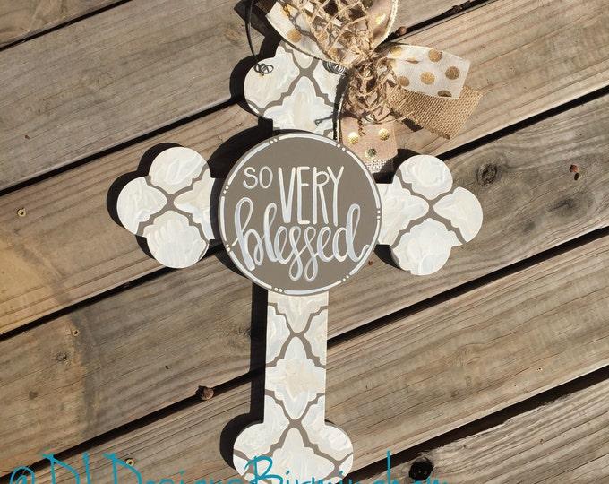 'So very blessed' attachment cross door hanger