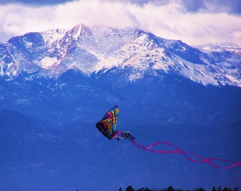 Butterfly Kite /Pikes Peak / Colorado Mountains Photography.