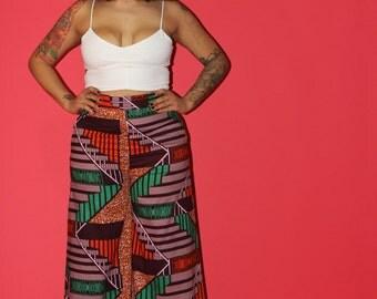 KENYA - African Ankara Wax Print Wide Leg Pants  SM-XXL!