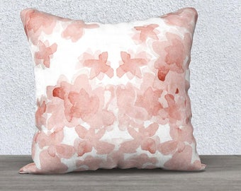 Blush Pillow Case, Blush Nursery, Blush Lumbar, Watercolor Pillow Case, Blush Throw Pillow, Blush Pillow, 14x20 18x18, Blush Pillow Cover