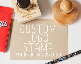 Custom Logo Stamp, Shop Stamp, Business Stamp, Business Brand Rubber Stamp Style - Your Logo or Artwork