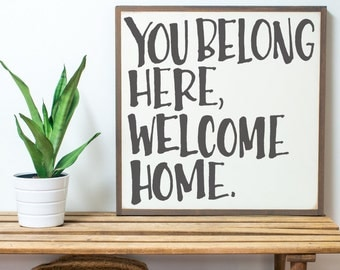 You Belong Here {Handlettered}