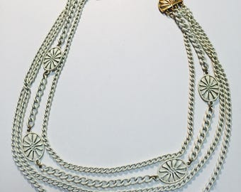 Vintage Monet Enameled chain necklace.