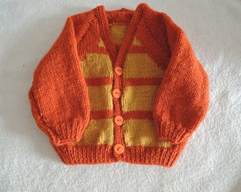 Baby Cardigan/Jacket,Unique,Hand Knitted,20 Inch