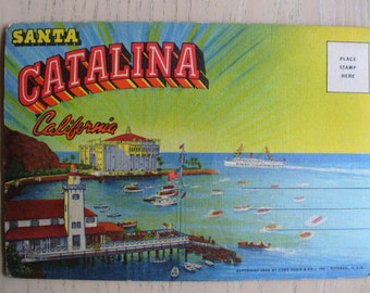 Santa Catalina Postcard Folder