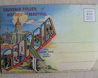 Georgia Postcard folder
