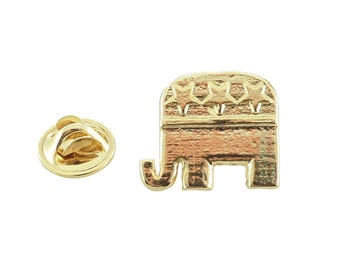 Gold Republican Elephant Mini Pin   AG1030MP