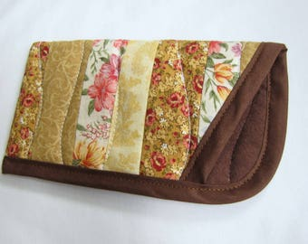 Brown Eye glasses case, Soft Quilted Eye Glasses Case